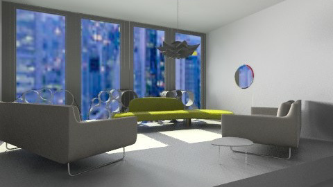 Super White - Modern - Living room - by aubriella