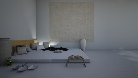 Traditional Japanese Room - Minimal - Bedroom - by whatbuttwo