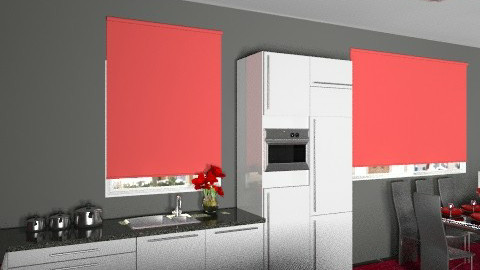 Kitchen1redview3 - Modern - Kitchen - by yvonne400cc