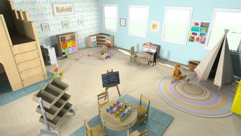 kindergarten room - by kendra_b