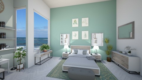 sage - Classic - Bedroom - by Ali Ruth
