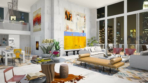 AB - Eclectic - Living room - by AlSudairy S