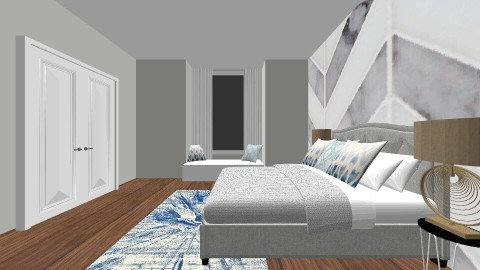 blue bedroom - Bedroom - by muellerbri
