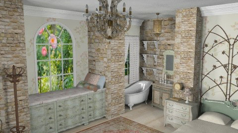 Shabby Chic` - Vintage - Bedroom - by starsector