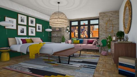 eclectic bedroom - Bedroom - by miadesign