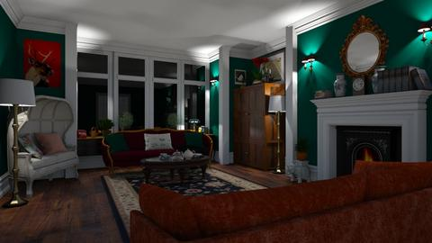Green Living Room - Living room - by nat322