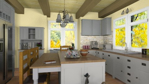 Country - Rustic - Kitchen - by Bibiche