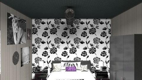 Black & White - Feminine - Bedroom - by Anita Selgrad