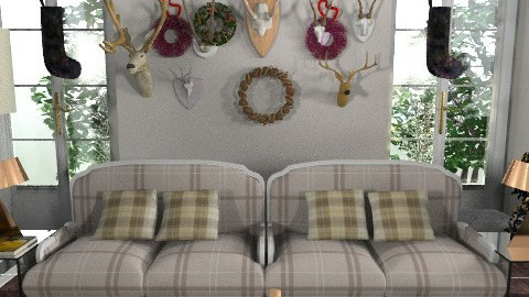 Cushions_hunting lodge - Eclectic - Living room - by mydeco_Jo