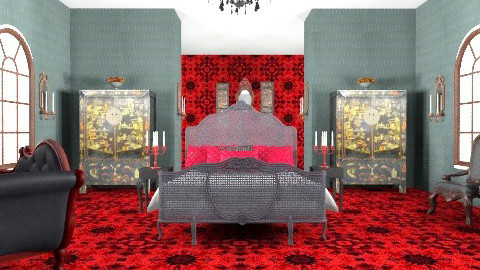 Red&Black - Classic - Bedroom - by sephara