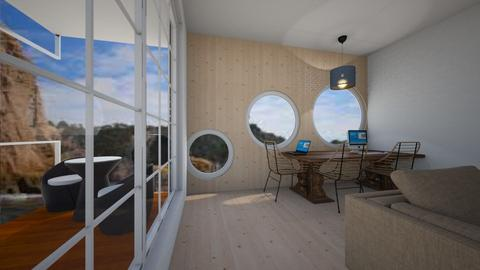 Mountain Cabin - Modern - Living room - by bleeding star