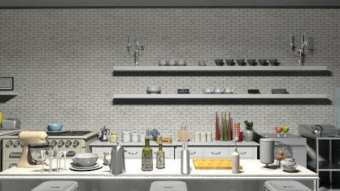 Industrial Retro Kitchen - Retro - Kitchen - by camilla_saurus