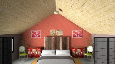 oriental dreams - Bedroom - by Linda Eubanks