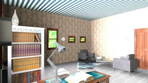 Chambre Sherlock Holmes - Masculine - Bedroom - by Karminn A