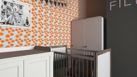 Modern lively nursery - Retro - Kids room - by natienka