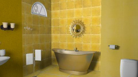 golden gold - Glamour - Bathroom - by haSo0n