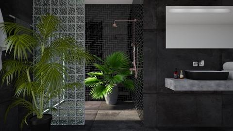 Dark Bathroom - Bathroom - by deleted_1533572626_Gabby Lovell