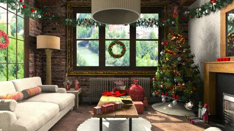 Cosy Christmas - Country - Living room - by camilla_saurus