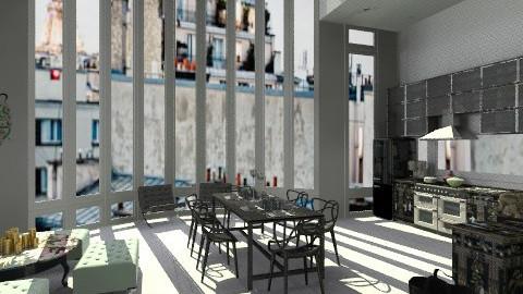 Paris rooftop - Modern - Kitchen - by amandafern