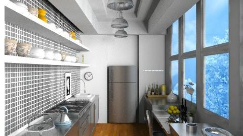 Steel Gallery Kitchen - Modern - Kitchen - by johannaviola87
