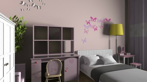 uu - Vintage - Bedroom - by zwr19931110