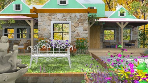 Quebec Country House - Rustic - Garden - by Bibiche