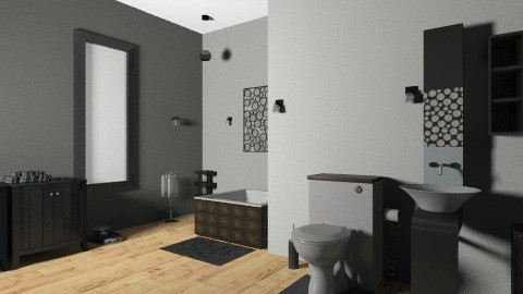 black and white - Classic - Bathroom - by april dalie