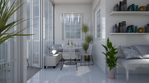 Clean White - Modern - Dining room - by millerfam