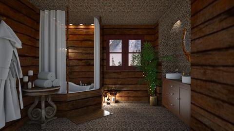 Log Cabin Bathroom - Bathroom - by creato