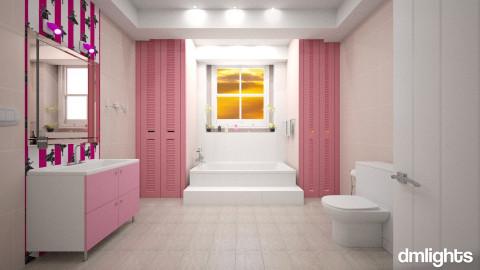 Banheiro de Menina - Bathroom - by Roberta Bela