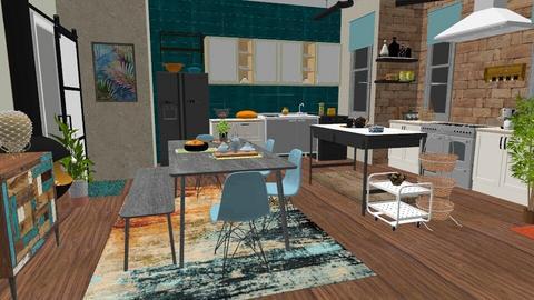 ecletic vibrat kitchen - Kitchen - by Moonpearl