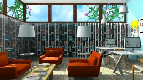Library Lounge - Modern - by 3rdfloor