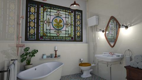 boho bathroom - Bathroom - by Phospective