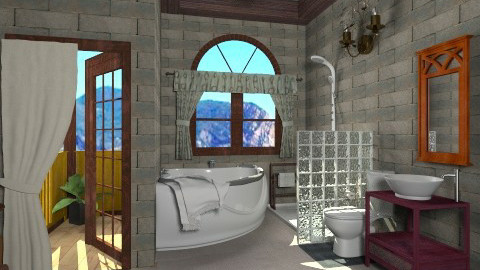 electic stone - Rustic - Bathroom - by Veny Mully