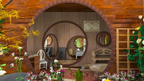Hobbits House - Rustic - Bedroom - by Mum Dali