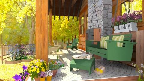 Porch - Rustic - Garden - by Bibiche