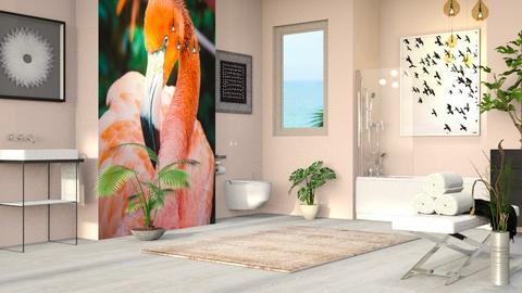 Flamingo 2 - Eclectic - Bathroom - by millerfam