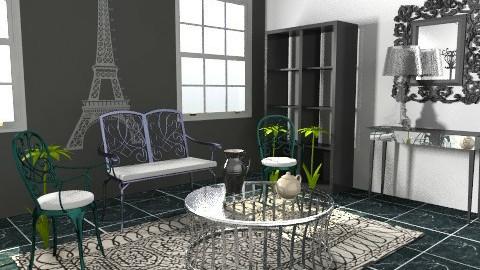 paris - Retro - Living room - by livia87