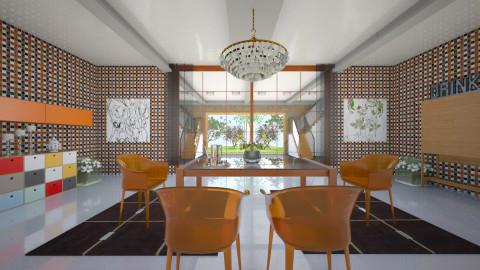 OOOrange - Retro - Dining room - by Saj Trinaest