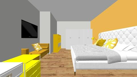 yellow bedroom - Bedroom - by fredjuhh
