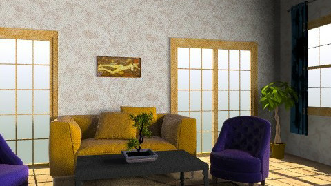 blue-yellow - Eclectic - Living room - by lovegirl1782