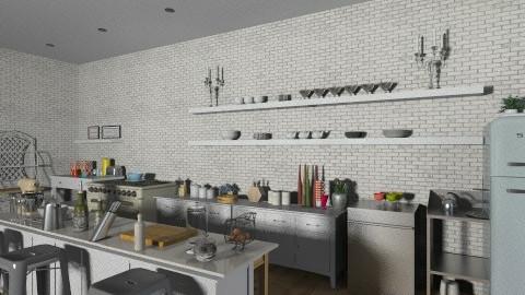 Industrial Retro Kitchen - Retro - Kitchen - by 66861499hala