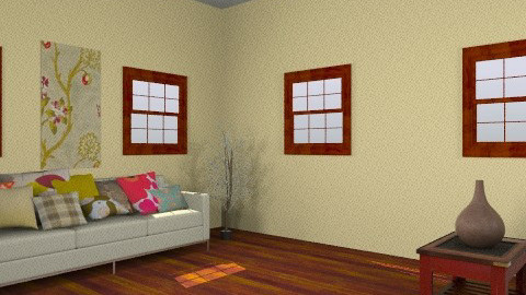 banana cherry room  - Eclectic - Living room - by guayaba soda1