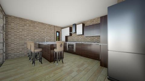 Casa com Jardim Interno - Glamour - Kitchen - by Mariesse Paim