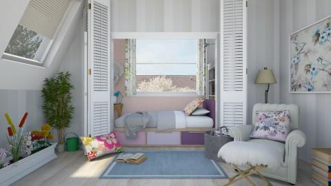 Bed Nook - Feminine - Bedroom - by color blind
