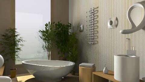 Cream - Minimal - Bathroom - by idna