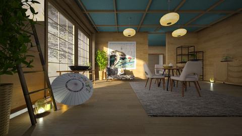 Japan_Art - Living room - by ZuzanaDesign