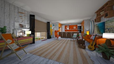 surfer living room - Living room - by hillygabe
