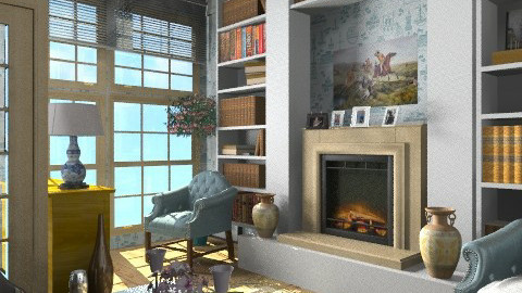 Blue fnt - Eclectic - Living room - by milyca8