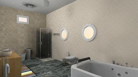 steel and stone - Bathroom - by skua